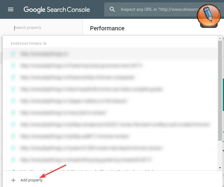 add property in search console