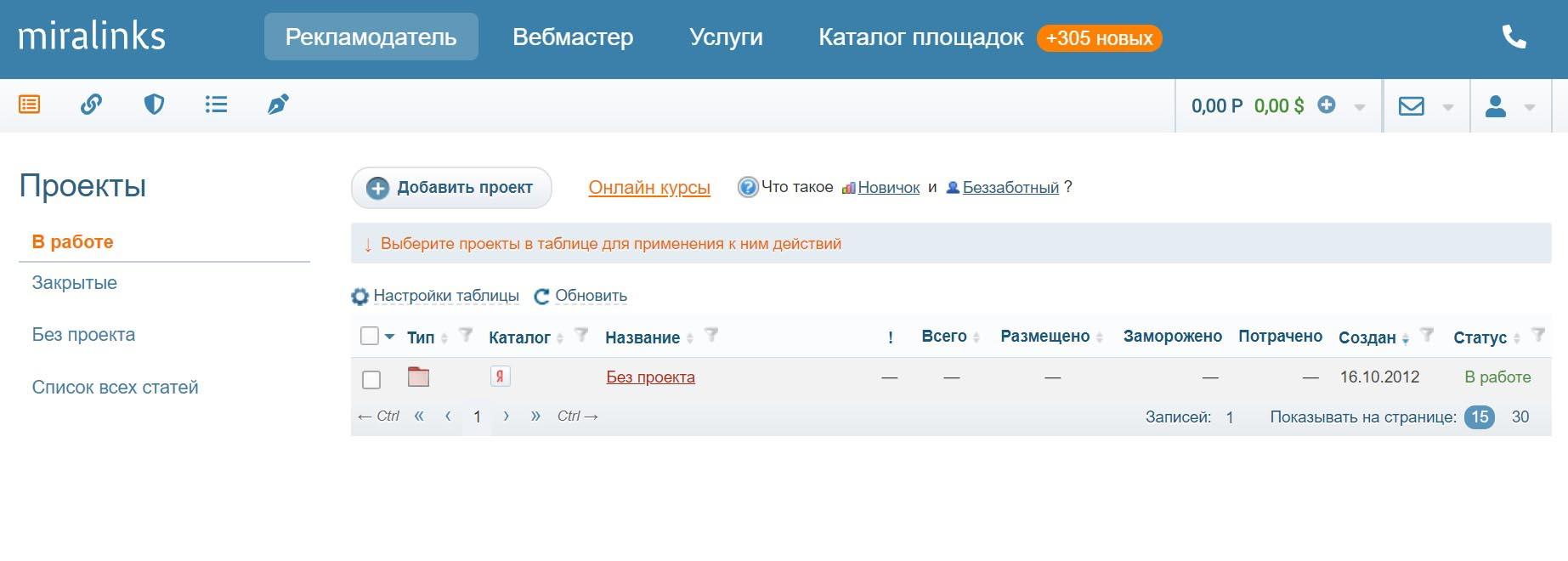 Miralinks – сервис статейного маркетинга